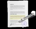 Ikona vzorové smlouvy a dalších dokumentů ke stažení